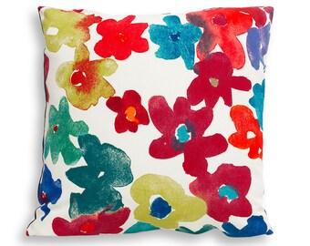 Multicolor Floral Reversible Pillow Cover - Modern Décor