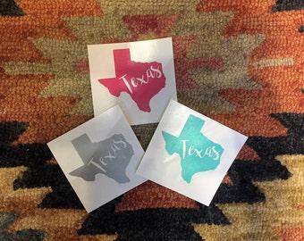 Texas Car Decal, Texas Window Decal, Texas Window Sticker