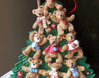 Holly Bearies Ornament, Vintage Holly Bearies, Vintage Ornament, Teddy Bear Ornament, Christmas Tree Ornament, Kurt S. Adler Ornament, Gift