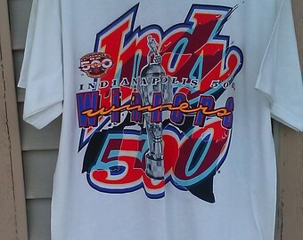 1998 Indianapolis 500 Winners t-shirt/double side size large logo 7