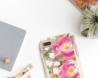 iPhone 8 Case iPhone 8 Plus Case iPhone X Pink Blossom  Hard Case Otterbox Symmetry