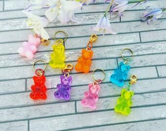 Gummy Bear Stitch Marker Set