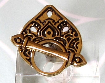 TierraCast Tempel Knebelverschluss, Wohnwagen, Antik Gold, TG42