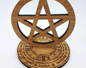 Oak Wheel of the year with Pentacle
