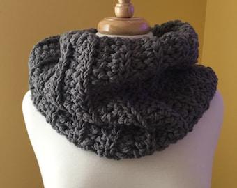 Chunky Crochet Cowl-Crochet Cowl--Outlander Cowl-Claire's Cowl-Infinity Scarf-Circle Scarf-Neckwarmer