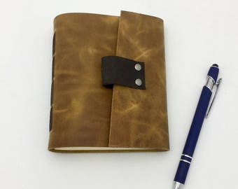 Small Leather Journal, Sketchbook - In Stock