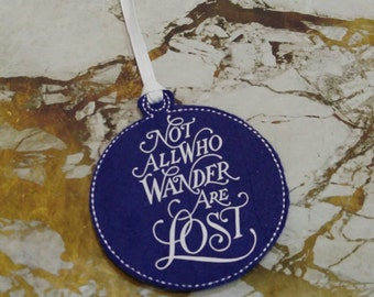 Not All Who Wander Are Lost Tolkien Ornament