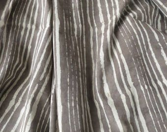Kashish Grey and White Indian Block Print Cotton Fabric