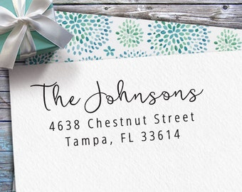 Personalized Return Address Stamp - Custom Rubber Stamp - Custom Return Address Stamp - Custom Stamp - Personalized Address Stamp - RA053