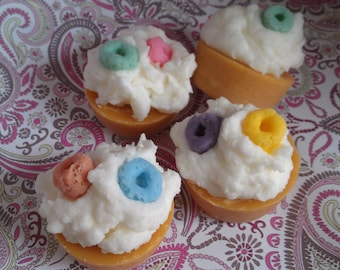 Fruit Loops, Cereal, Wax Tart Melts, Bakery Scented, Tart Melter, Scented, Creative Candles, Dessert Candles, Mini Cupcakes, Handpoured Wax