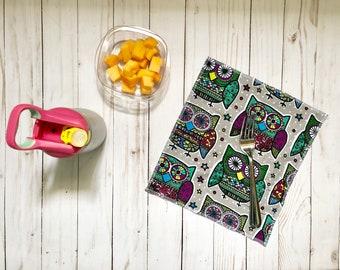 Lunchbox napkins, zero waste napkins, reusable napkins, kids napkins, children's napkins, lunch napkins, cloth napkins, fabric napkins