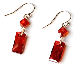 long drop wedding jewellery crystal red earrings il market etsy