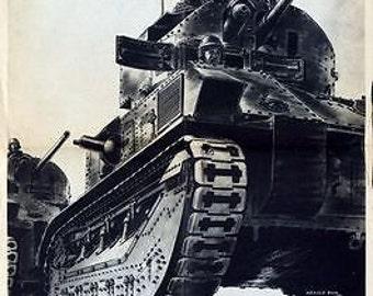 World War Two British Tank Regiment Poster A3 Print