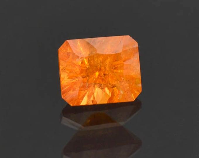 Bright Orange Concave Cut Spessartine Garnet Gemstone 3.59 cts.
