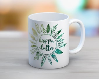 KD Kappa Delta Feathers Mug Sorority Coffee Mug