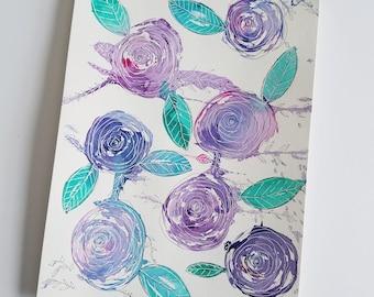 Original Abstract Watercolor Illustration | Abstract Flowers | Watercolor | Flowers | Watercolor Flowers | Wall Art | Home Decor | Art