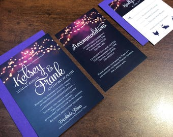 Party Night Wedding Invitations