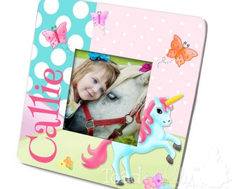 Unicorn Girls Photo PICTURE FRAME for Kids Bedroom Baby Nursery PF0047