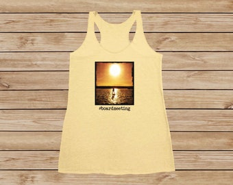 Board Meeting - Ladies Photo Tank Top - SUP - Stand Up Paddleboard