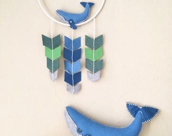Whale Whimsy Hoop: 8 inch Chevron Mobile