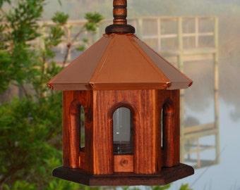 Bird Feeder, Copper Birdfeeder, Hanging Bird Feeder, Rustic Bird Feeder, Gift's for Mom