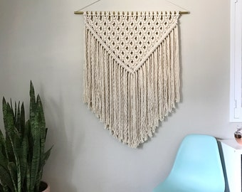 Macrame Patterns/Macrame Pattern/Macrame Wall Hanging Pattern/Wall Hanging Pattern/DIY Macrame/Name: XL Triangle