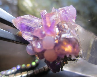 AmeThySt  ToWeR AmaZement For Renaissance Fairs in GraPe Agate fashion OOAK handmade Pendent