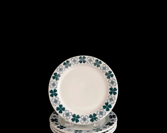 Vintage Mid Century Modern Set of 4 Thomas Porcelain Germany Side Salad Plates w/ Green : thomas pottery dinnerware - pezcame.com