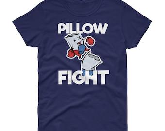 Pillow Fight Slumber Party Favor Shirt | Sleepover Tee | Women's short sleeve t-shirt