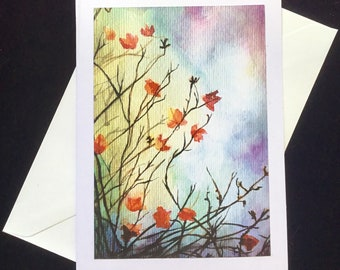 The beautiful leaves - a fine art greeting card.