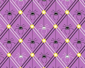 1 Yard Legend of Webb Hill Purple Spiders by Dana Brooks for Henry Glass