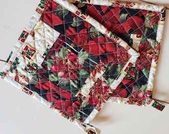 Quilted Christmas Pot Holders