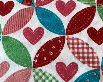Valentine Patchwork Heart - Joann Fabric Special Print - Fabric by the yard