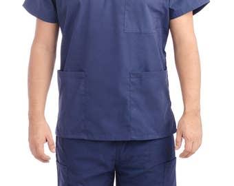 Navy Blue Medical Scrub Uniform Sets