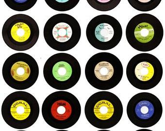 Vintage Vinyl Records - Ephemera - Clip Art - Digital Collage Sheet - Printable - Instant Download