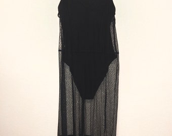Black body Suit with Lace Cover