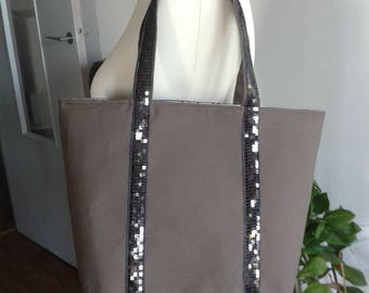 Small tote style Vanessa Bruno - taupe glitter anthracites