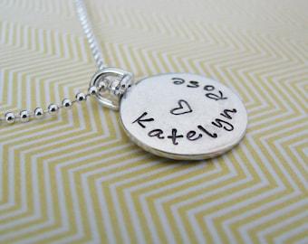 SALE custom 2 sided swivel necklace in sterling silver
