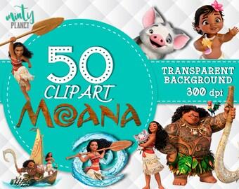 Moana Clipart, Moana PNG files, Moana characters full quality, 50 Moana Clipart transparent background, 300dpi, instant download, PSN008