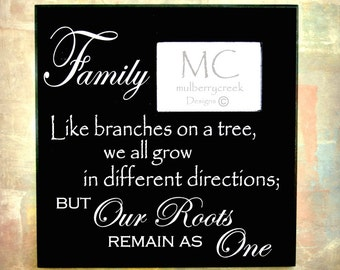 Family Photo Frame Like Branches on a Tree - Family Frames - Family Roots Photo Frame - Photo Frame for Family Photo - Family Gifts