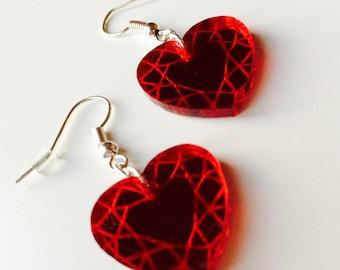 Heart   Geometric   Gem   Love   Kawaii   Laser Cut   Acrylic   Earrings