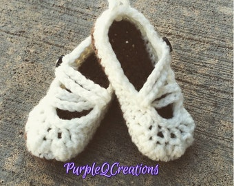 Baby Girl Mary Jane Slippers / shoes / photo prop