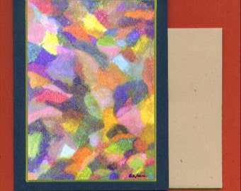 Blank Art Note Card - Abstract Number 166