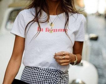LA FEMME woman ladies t-shirt