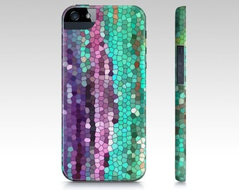 Purple and Teal Mosaic Abstract Phone Case, iphone 10, 8 plus, 8, iphone 10 X, 7,  7 plus  Samsung, colorful, popular, cases,  gadgets, tech