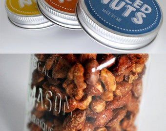 Instant Download Spiced Nuts Recipe Labels and Tags