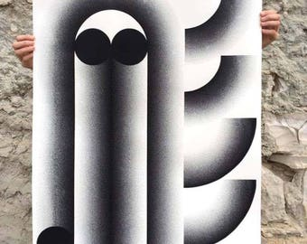 PIPING, limited edition screen print, 100 x 70 cm