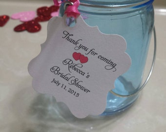 Personalized Favor Tags 2x2' , Bridal Shower tags, Thank You tags, Favor tags, Gift tags, Bridal gown