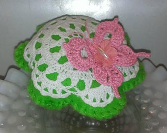 Designer Pincushion Hand Crafted Hand Crocheted One Of A Kind Pincushions