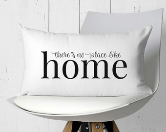 Pillow Covers - Farmhouse Pillows - Throw Pillow - Farmhouse Decor - There's No Place Like Home - Housewarming Gift